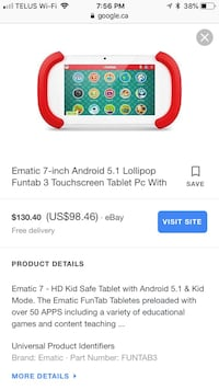 Kids funtab tablet Fort Saskatchewan, T8L 4S4