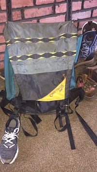 Black and yellow camping backpack Greenville, 45331