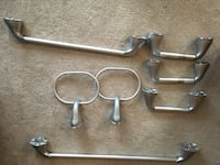 several stainless steel handles