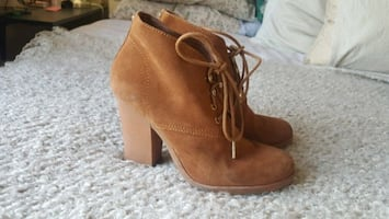 MK Suede Booties size 9