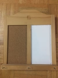 Cork board and white board and key hanging wall board Toronto, M3C 1C6