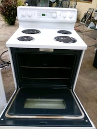 white and black electric coil range oven Tampa, 33610