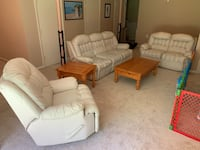 White Leather Living Room Set Gaithersburg, 20879