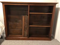 brown wooden framed glass cabinet London