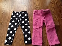 Lot of 7 pairs of pants.  2t