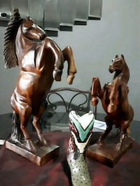 Wooden hand carved horses I bought in Cuba Barrie, L4N 7N2
