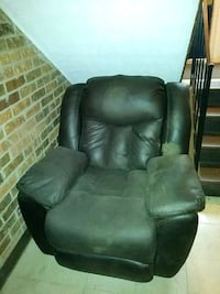 black leather recliner sofa chair 383 mi