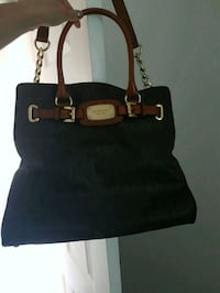 black and brown leather tote bag Coldwater, L0K 1E0