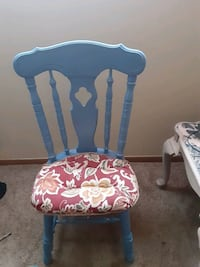Floral padded chair