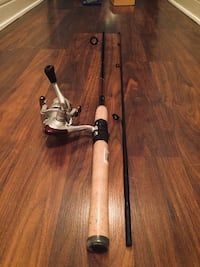 Fishing pole with broken reel