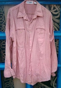 Men's Large Salmon Colored Shirt By CC Sports  100% Cotton San Diego, 92120