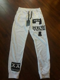 white and black Pink by Victoria's Secret pants