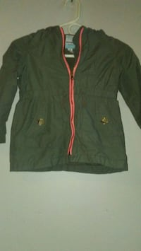 Olive green hooded pink accent jacket Hamilton, L8N 1N2