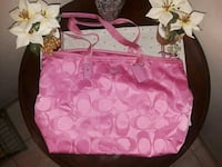 Coach authentic large pink tote