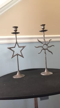 World market star & moon candle holders