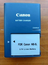 Canon NB-5L battery and charger Leesburg, 20175