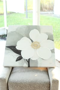 white and black flower painting Bradenton, 34208