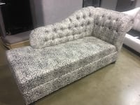 gray fabric fainting couch Surrey