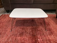 White with metal legs folding lap or crafting table Burke, 22015
