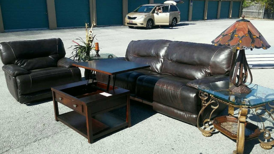 florida jacksonville home and garden 5 piece leather living room set