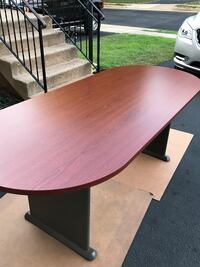"84"" Wood veneer racetrack conference table!  Gainesville, 20155"