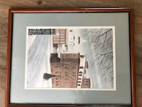 Terri Fowler signed and numbered framed Annapolis print Queenstown, 21658