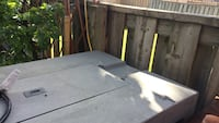White and brown propane fire pit Ajax, L1T