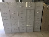 Hon 5-Dr File Cabinet...lite gray w/lock and 1 key per unit Clover, 29710