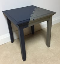 Blue & Silver Accent Table