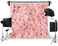 New Unused 10' x 6.5' Fabric Floral Backdrop Toronto, M5M 1Y4