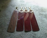 four brown wooden ceiling fan blades Columbia, 29204