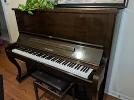 Upright Seiler Piano - Great condition, gently used dark brown