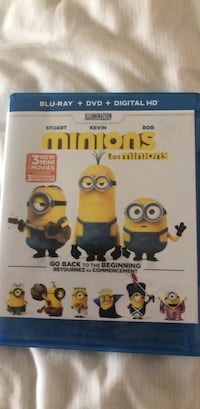 Minions Blue Ray only. $5 Vaughan, L4K 3L3