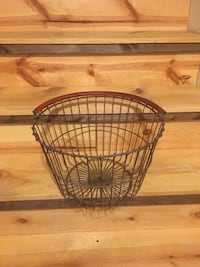 Large wire egg basket with red handle Hedgesville, 25427