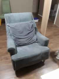 Grey Armchair with pillow Grimsby