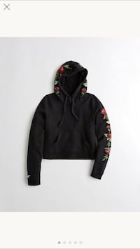Rose Hollister Graphic Crop Hoodie Henderson, 89011
