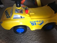 toddler's yellow and blue The Cars Dinoco 51 ride-on toy Elyria, 44035