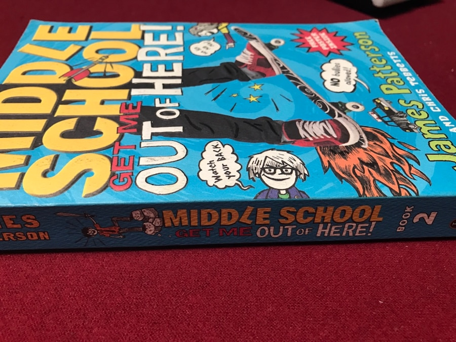 Book Cover School Near Me ~ Used middle school get me out of here by james patterson