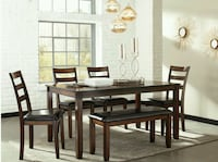 [SPECIAL] Coviar Brown 6-Piece Dining Set Lutherville-Timonium, 21093