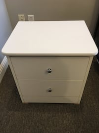 white wooden 2-drawer nightstand San Francisco, 94122