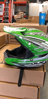 green and black motocross helmet Temescal, 92883