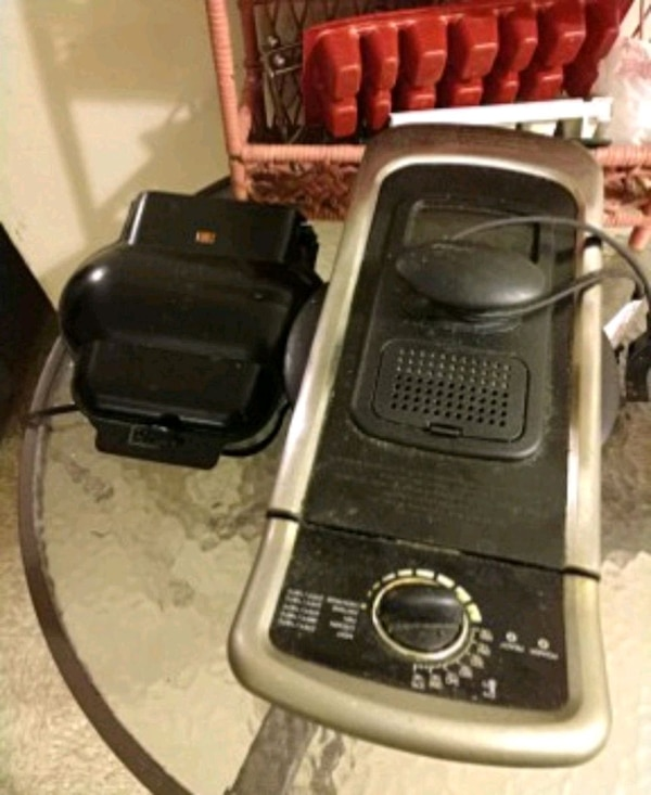 black and gray electric grill