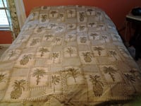 King Comforter Sage/beige  Palm/Pineapple  TAMPA