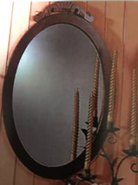 Beautiful rich dark mahogany oval mirror Toronto, M1M 1R9