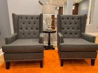 Two Wingback Accent Chairs Washington