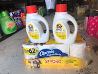 white and yellow Tide detergent bottles Palmdale, 93550