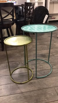 Nesting tables. Steel frame. Glass insert overtop. Just over a year old   Georgetown, L7G 6A5