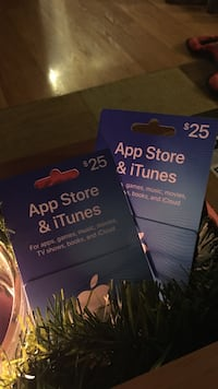 Two $25 iTunes gift cards for $40... GREAT STOCKING STUFFERS!!