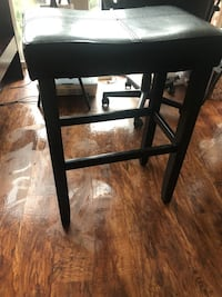 Two wooden bar stools with leather top Arlington, 22209