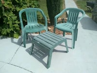 2 Plastic Chairs and Footstool Chapel Hill, 37034